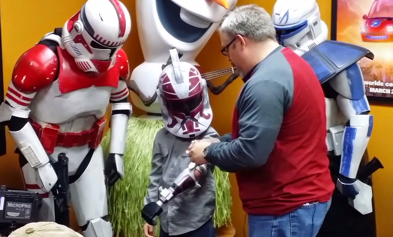 Feel All the emotions as This 7-Year-Old Boy Is Given a Prosthetic Stormtrooper Arm