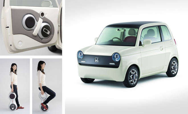 UX-3 electric unicycle and EV-N electric car