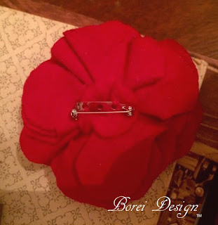 How to make a flower brooch or pin by recycling an old tshirt