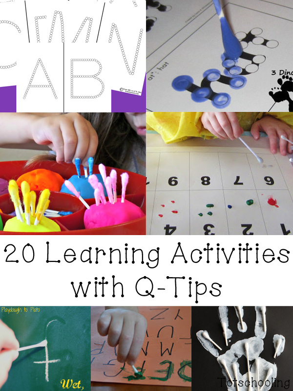 Earth Q Tip Painting Free Printable Totschooling Toddler