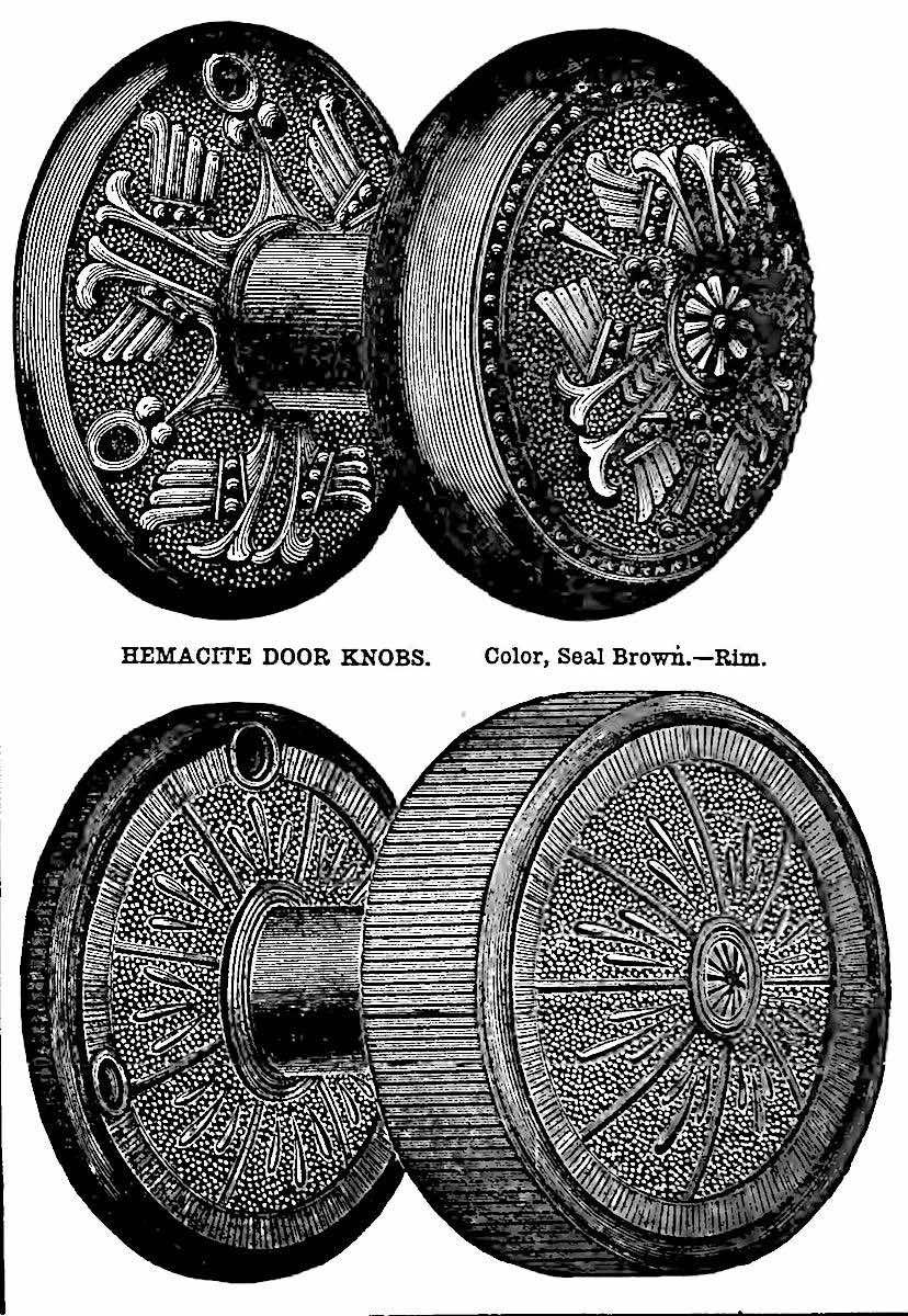Hemacite doorknobs, an illustration