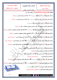 ملزمة الميسر في اللغة العربية للست ريزان احمد الجاف 2016 / 2017