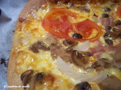 Pizza de harina integral