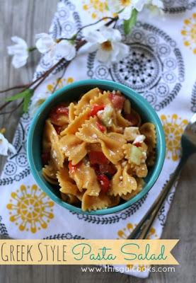 This Gal Cooks: Greek Style Pasta Salad