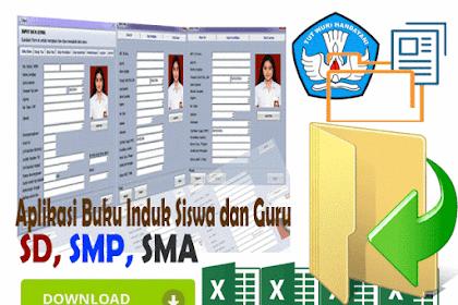 Download Aplikasi Buku Induk Siswa  Plus Cetak Nilai Raport KTSP dan kurikulum 2013