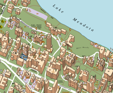 Campus Map Uw Madison Cartonerd: UW Madison Campus Map
