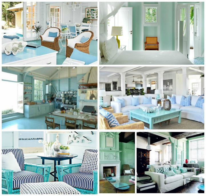 Coastal aqua rooms