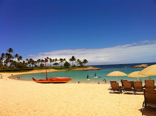 Picture of the beach at Aulani in Oahu