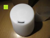 Öffnung: [Aroma Diffuser] E-PRANCE® 100ml Ultraschall Luftbefeuchter Duftzerstäuber mit LED Farbwechsel, sicher und leise, Höhe 14cm