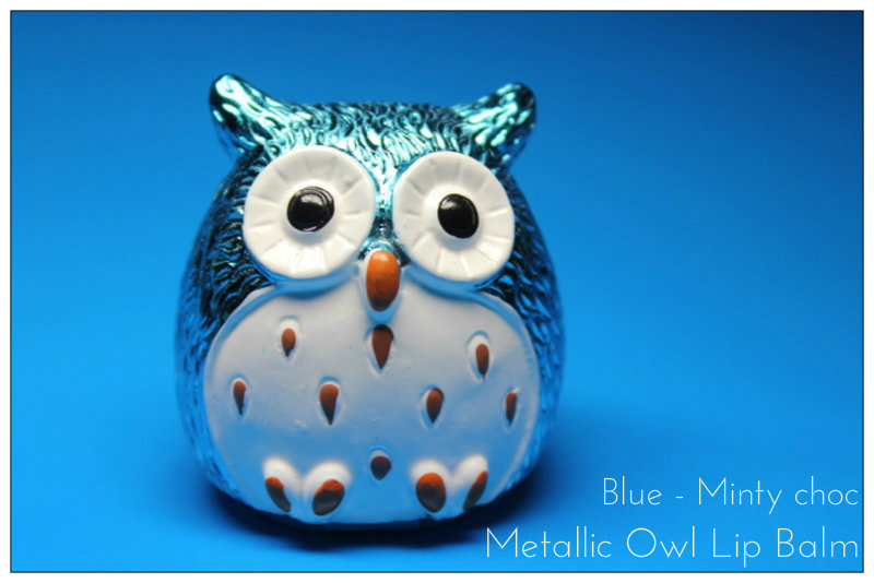 Review: Metallic Owl Lip Balm – Minty choc