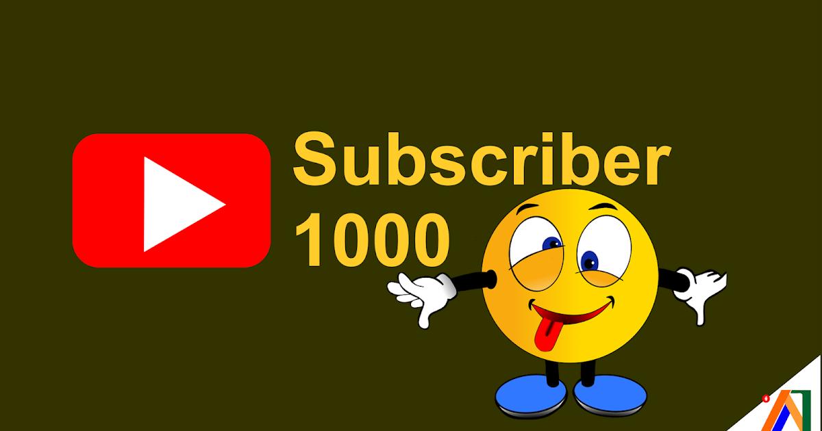 Hasil gambar untuk 1.000 Subscriber