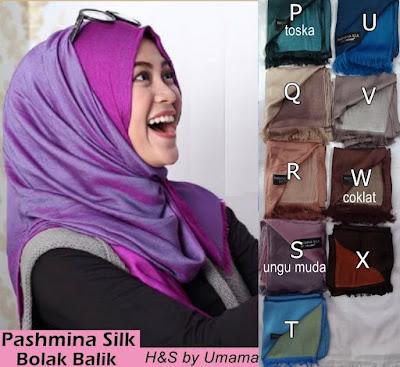 Model Jilbab Terbaru Pashmina Bolak Balik Umama