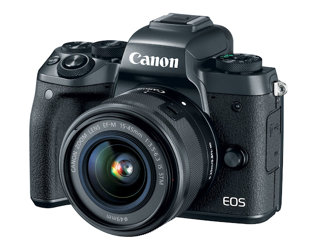Canon EOS M5 Mirrorless Camera Front View