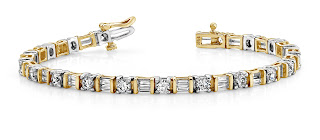 Round and Baguette Diamond Bracelet from Anjolee Jewelry.jpeg