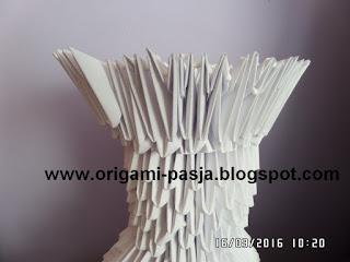 Tutorial - wazon origami modułowe, 3d.
