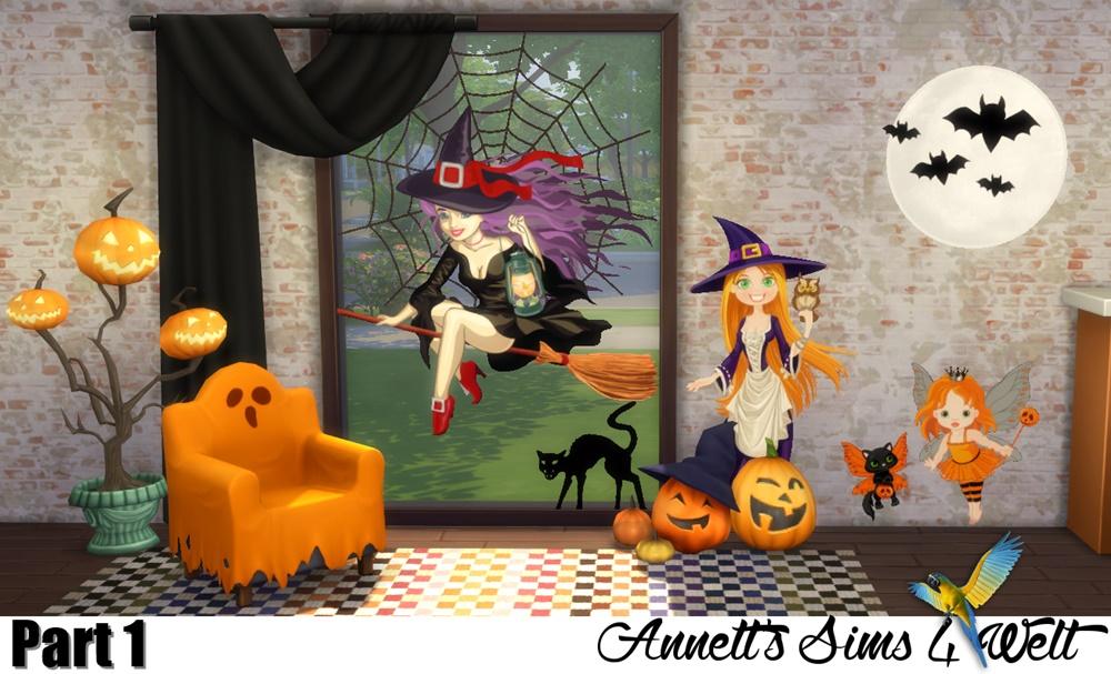 Wall Decor Halloween : My sims halloween wall decor by annett