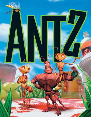 Poster Of Antz 1998 Dual Audio 720p Web-DL [Hindi - English] ESubs Free Download Watch Online downloadhub.in