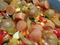 Resep Bakso Sosis Asam Manis dan Super Pedas