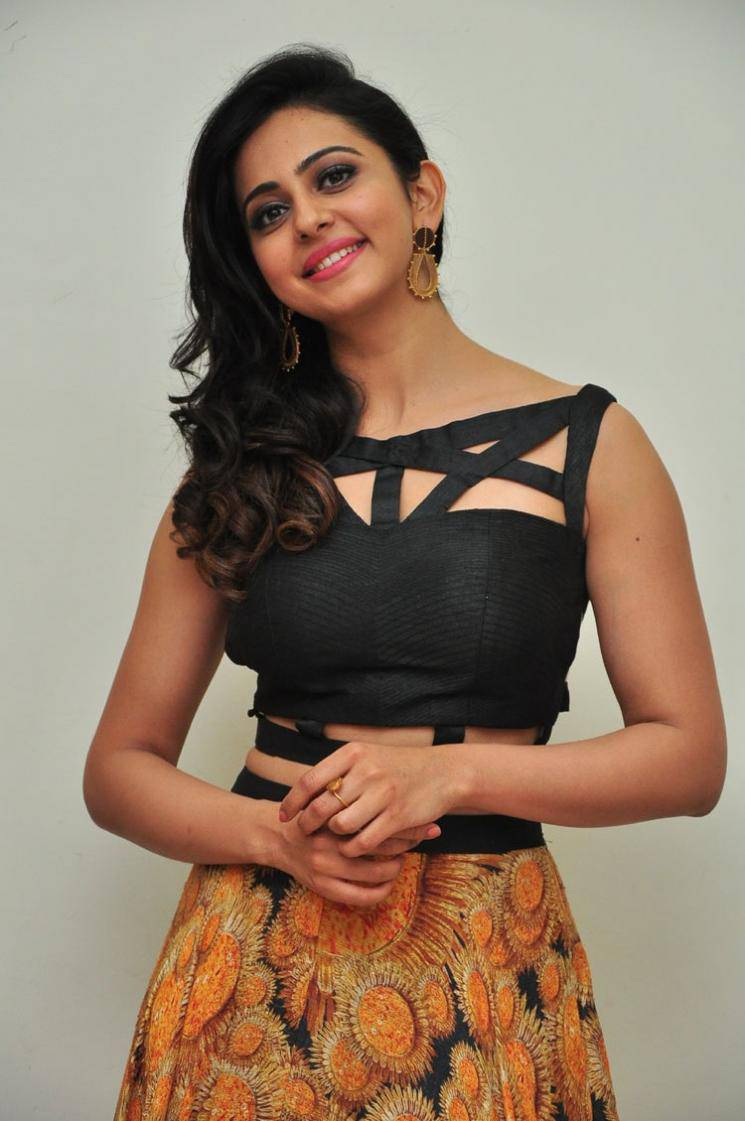 Rakul Preet Singh Images At Audio Launch In Black Dress