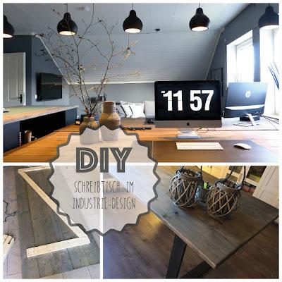 stoffsalat: diy schreibtisch im industrie-design, Innenarchitektur ideen