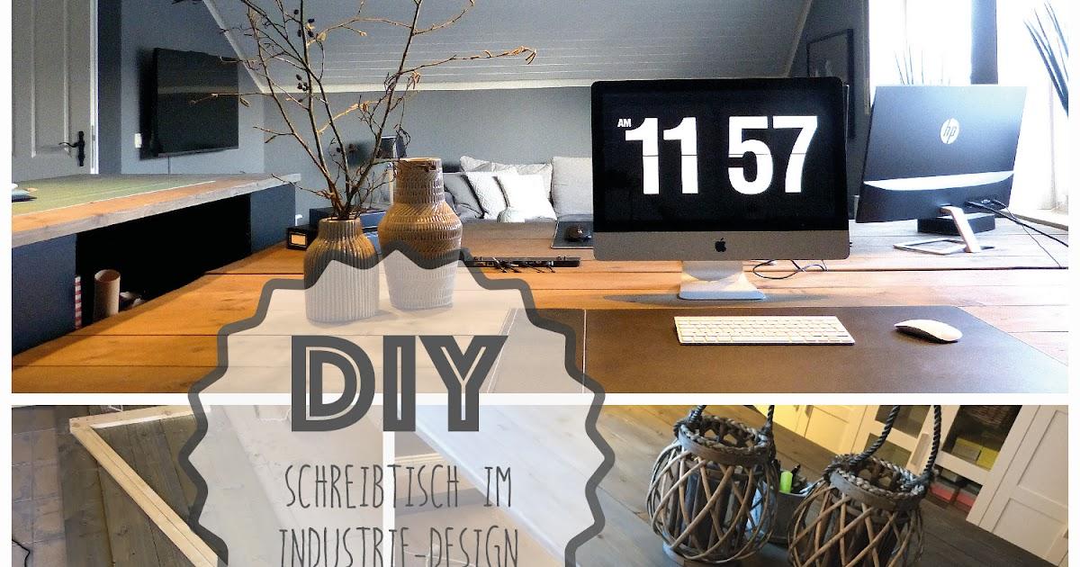 Stoffsalat: Diy Schreibtisch Im Industrie-Design