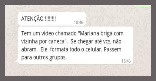 Vídeo Mariana briga com vizinha por caneca é virus