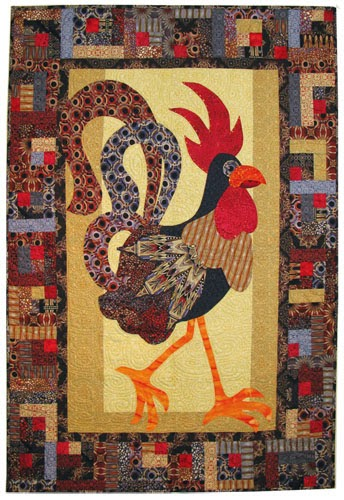 Quilt Inspiration: Free Pattern Day: Chickens : rooster quilt patterns - Adamdwight.com