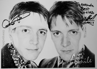 James & Oliver Phelps autograf, Autographs, Twins Phelps, Fred George Weasley Harry Potter