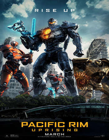 Poster Of English Movie Pacific Rim: Uprising 2018 Full HDCam Movie Free Download Watch Online