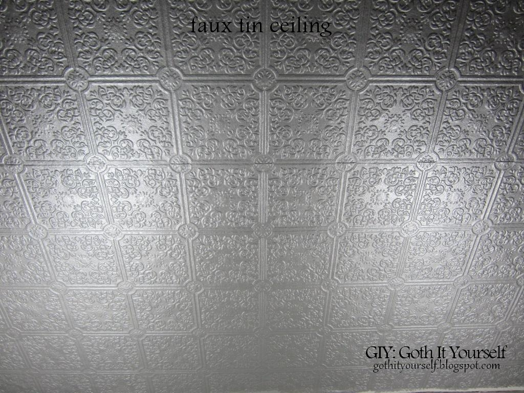 Giy Goth It Yourself Create A Faux Tin Ceiling With