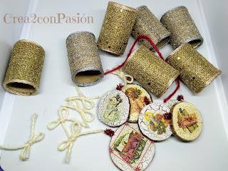 Viste-tu-mesa-en-Navidad-diys-servilleteros-con-arpillera-y-decoupage-reciclando-carton-crea2-con-pasion