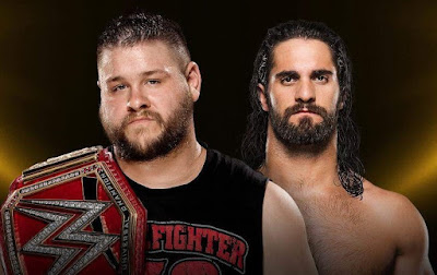 WWE Universal Championship match between Kevin Ownes and seth rollins