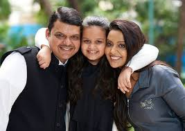 Amruta Fadnavis Family Husband Son Daughter Father Mother Age Height Biography Profile Wedding Photos
