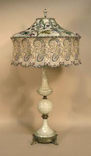 Interesting combination for antique lamp shades