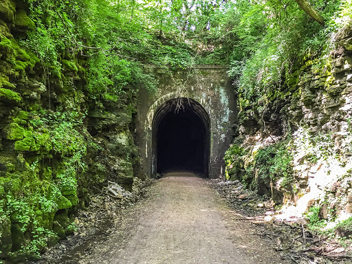 Stewart Tunnel on the Badger State Bike Trail