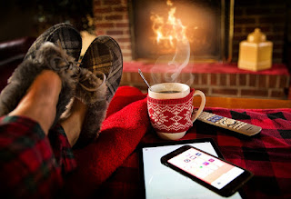 Image: Lounging by a Cozy Fireplace, by Jill Wellington on Pixabay