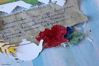 Конкурс Скрапбукер года 2016. Автор Carambolka. Фон своими руками с нуля: пивной картон, акварель, рельефная паста. Цветы, трава, ягоды, грибы сделаны вручную. Использованы ножи: Frantic stamper, Crafty Ann, Spellbinders, Nellie's choice, Sizzix, Memory box. Альбом о детстве своими руками.