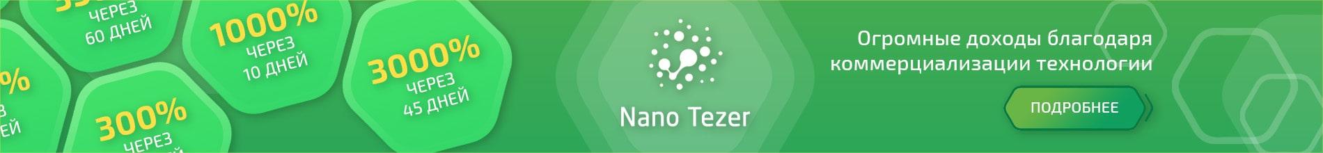 Баннер в шапке nanotezer