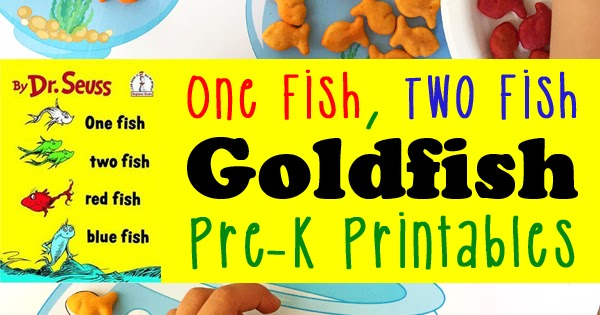 picture about One Fish Two Fish Printable referred to as Goldfish Printables for Preschoolers Totschooling