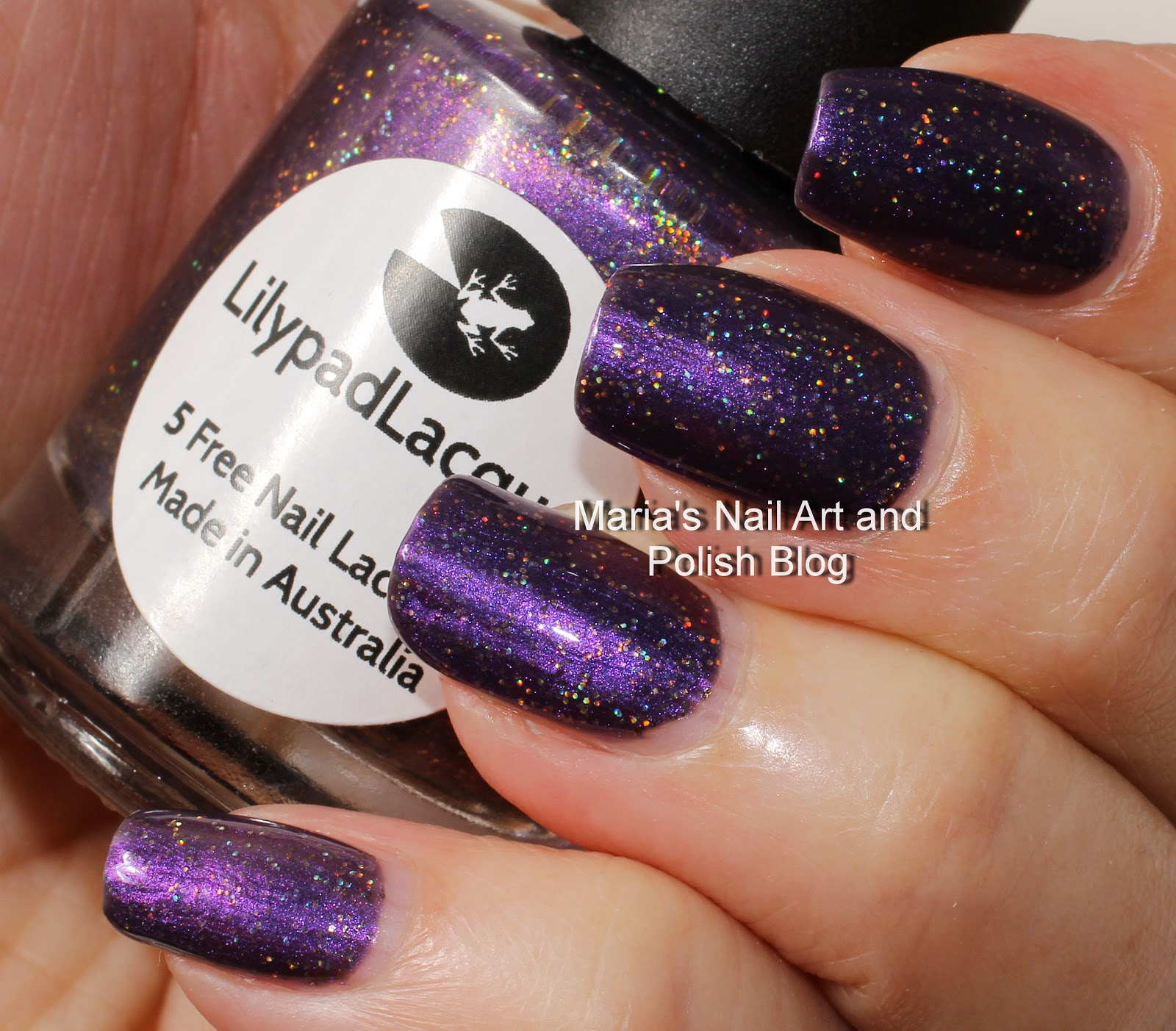 L B K Nail Lacquers Are Unique And Beautiful Giveaway: Marias Nail Art And Polish Blog: Lilypad Lacquer Merlot For Me