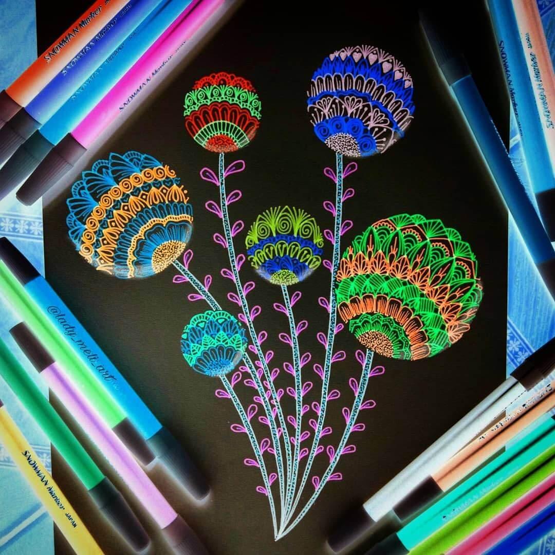 12-lady-meli-art-Colored-Pens-and-Geometric-Mandalas-Zentangles-Doodles-www-designstack-co