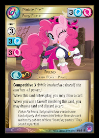 My Little Pony Pinkie Pie, Pony Pirate Seaquestria and Beyond CCG Card