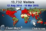 Prior Map of Our visitors