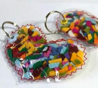 bikin sendiri gantungan kunci cinta dari kain perca flanel