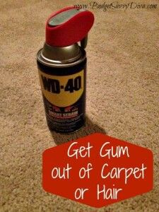 How to Get Gum Out of Carpet in One Minute!