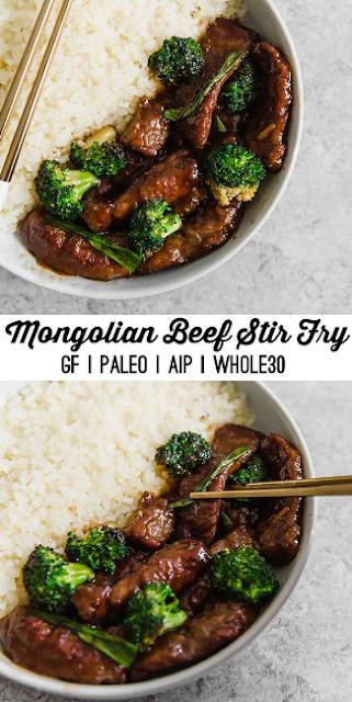 mongolian beef stir fry (whole30, paleo, aip)