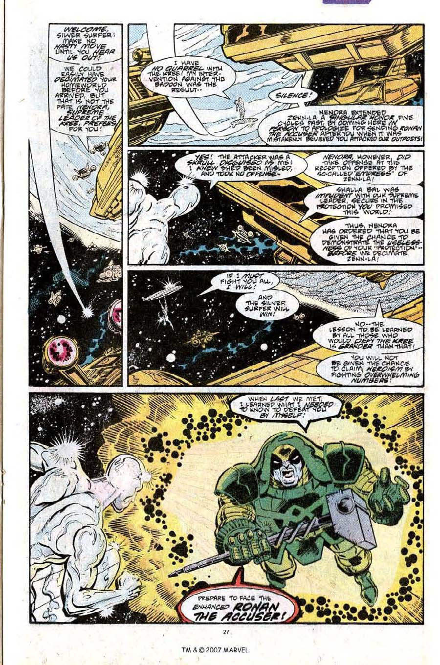 Read online Silver Surfer (1987) comic -  Issue #25 - 29