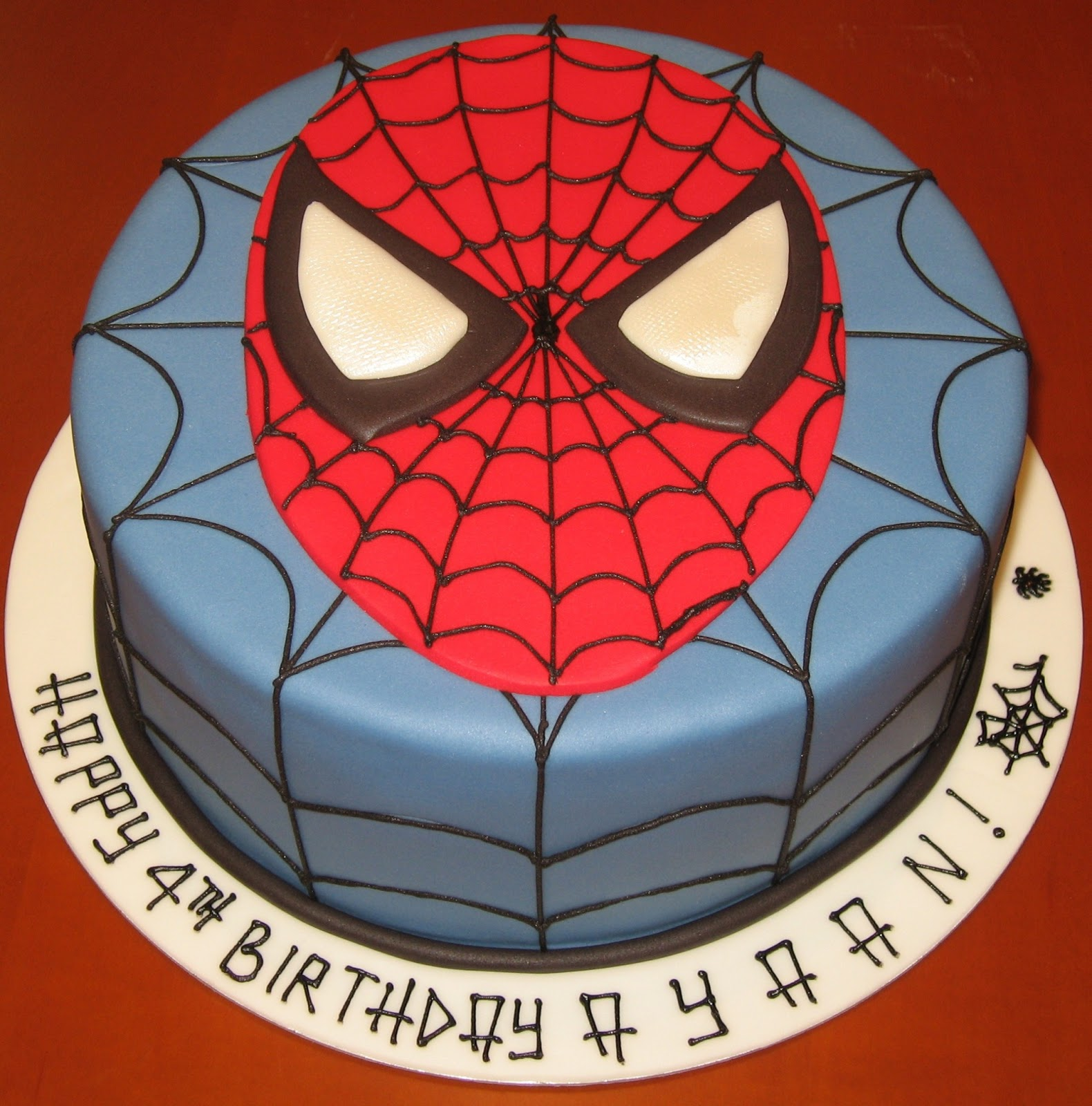 let them eat cake spiderman face cake. Black Bedroom Furniture Sets. Home Design Ideas