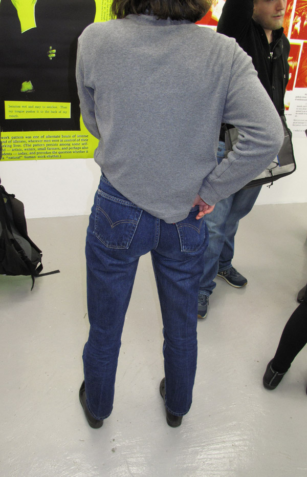 female 80's style Levis Jeans and sweat shirt, Dexter Fletcher - Careers in Retail