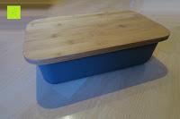 Erfahrungsbericht: Brotkasten aus Bambusfaser mit Deckel aus Bambus | 42 x 23 x 12 cm | Bewahren Sie Ihr Brot luftdicht und hygienisch auf